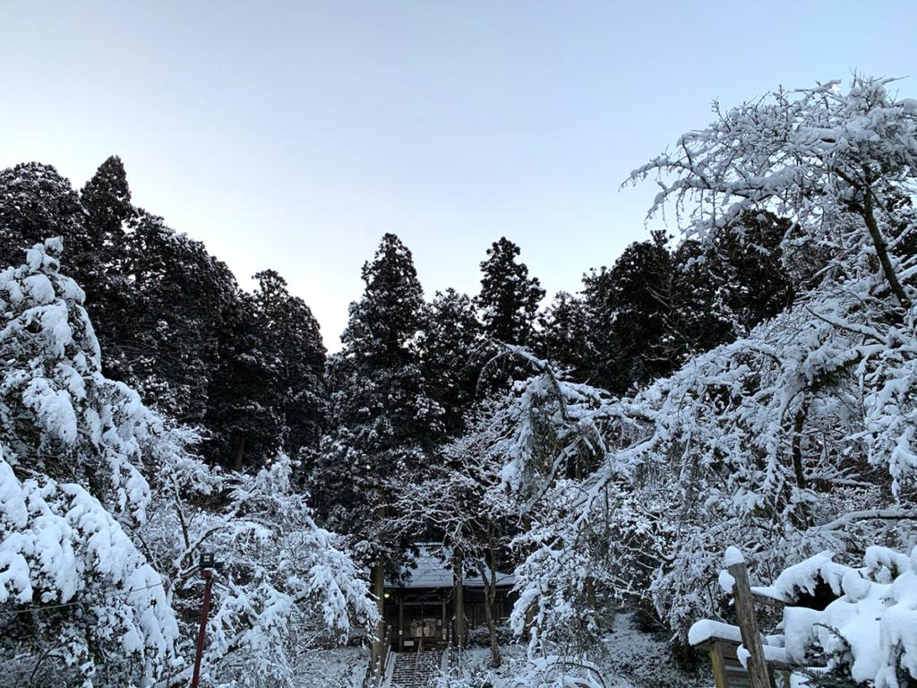 金剛山の雪景色