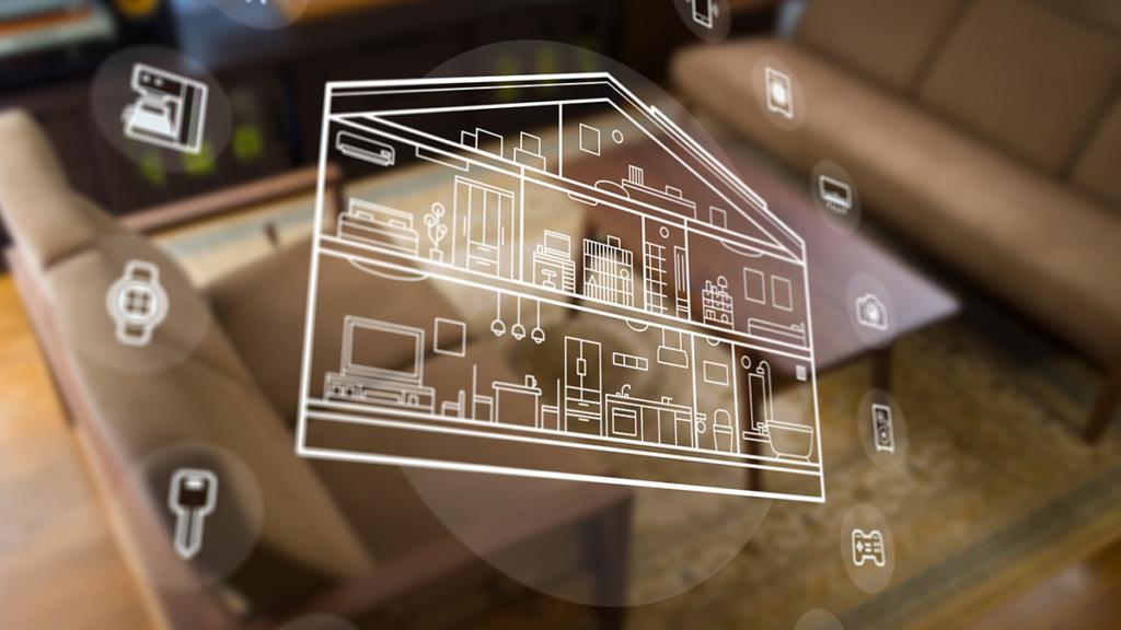 家の機能をアイコン化したイメージ