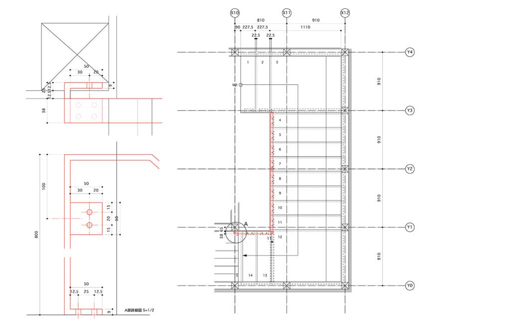 階段の施工図2